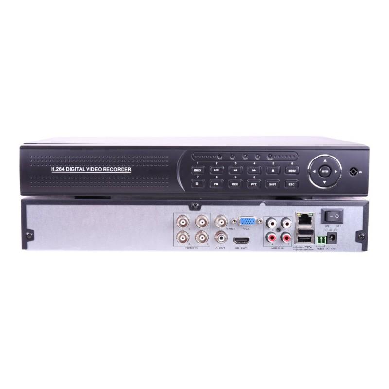 XVR 5MP 4 camaras 5 en 1 con entrada audio