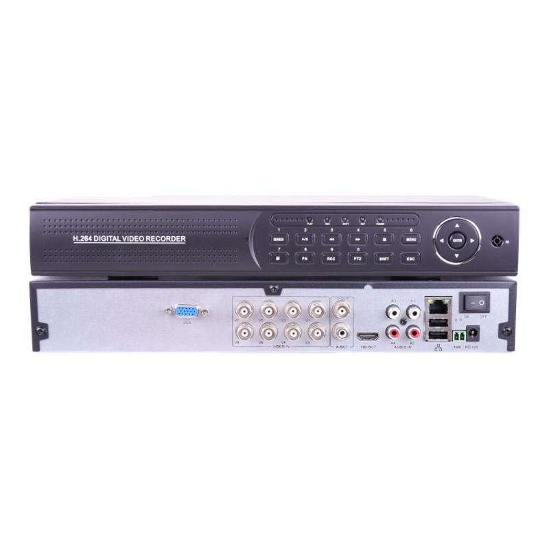 XVR 5MP 8 camaras 5 en 1 con entrada audio