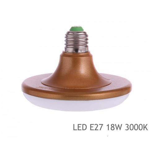 Bombilla led E27 UFO 18W 3000K blanco calida redonda plana