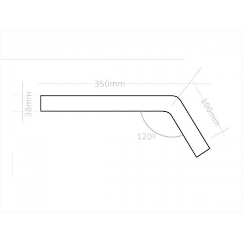 Brazo para luminaria conector 40mm