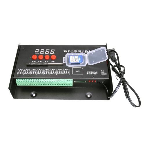 Controlador programable 8192 pixel 8 canales led tarjeta SD