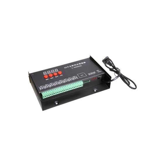 Controlador programable 8192 pixel 8 canales led