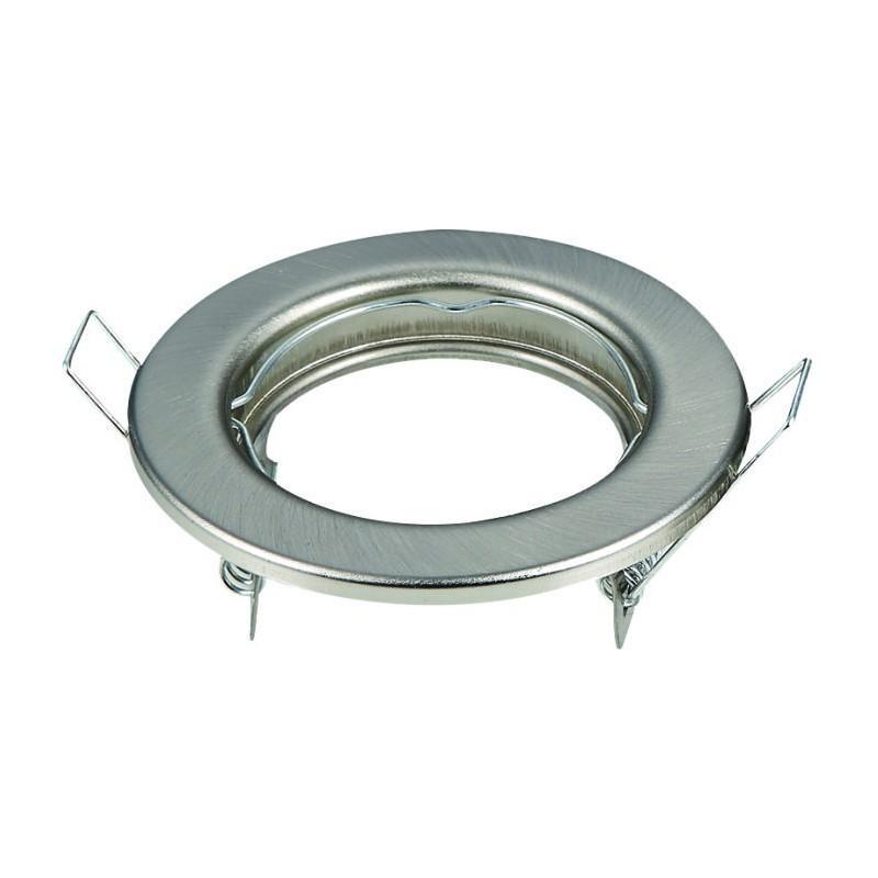 Aro circular para GU10 color plata