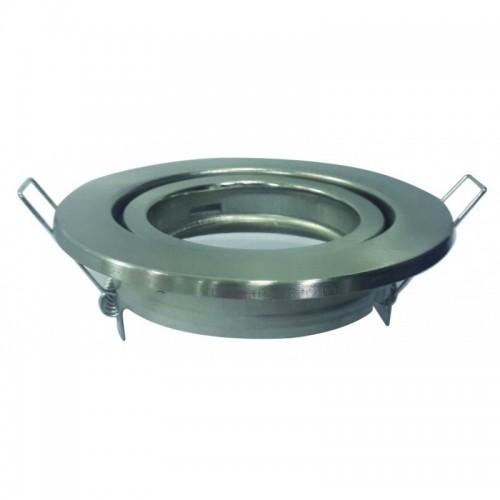 Aro circular orientable para GU10 nickel