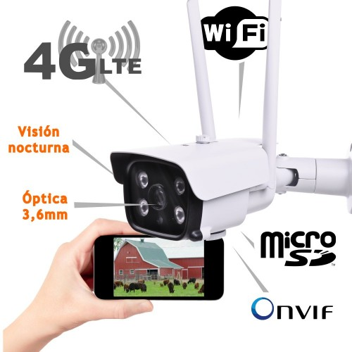 Camara IP 3G 4G exterior SD WIFI hotspot ONVIF