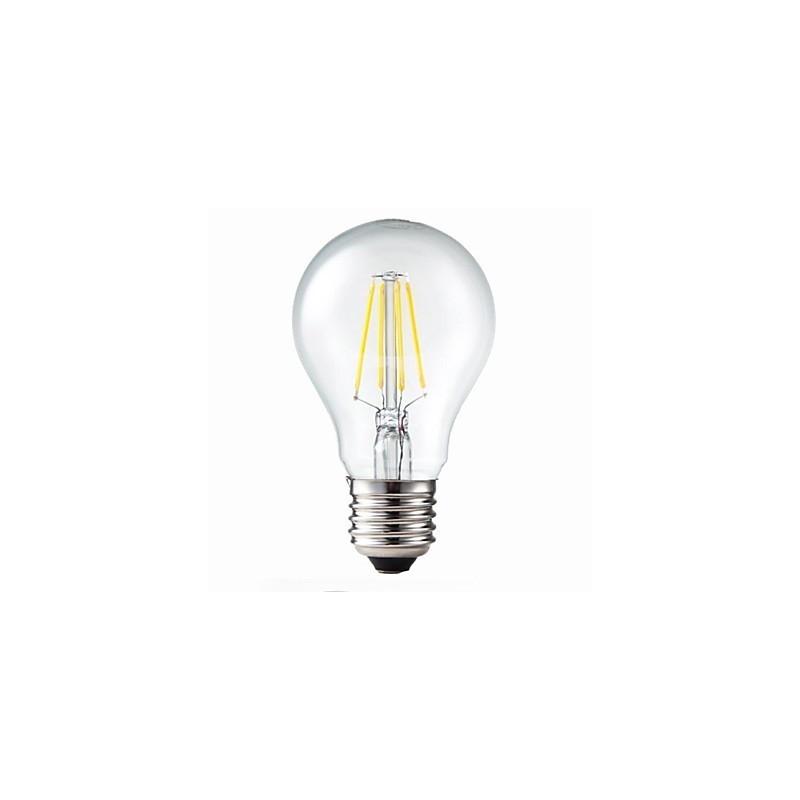 Bombilla led A60 filamento E27 6W blanco 2700K