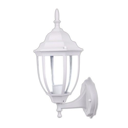 Farol de pared MICENAS exterior blanco aluminio E27 color blanco