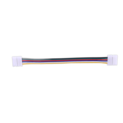 Conector tira led RGBW WW 17cm 6 hilos presión