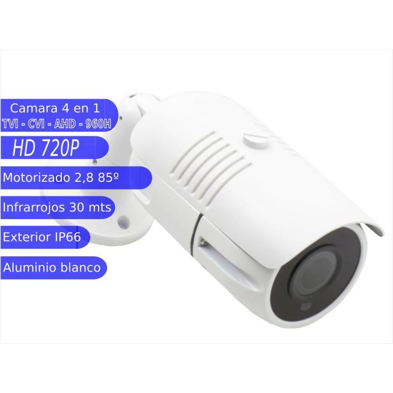 Camara Bullet 4 en 1 720P exterior 2,8mm infrarrojos OSD-UTC blanco