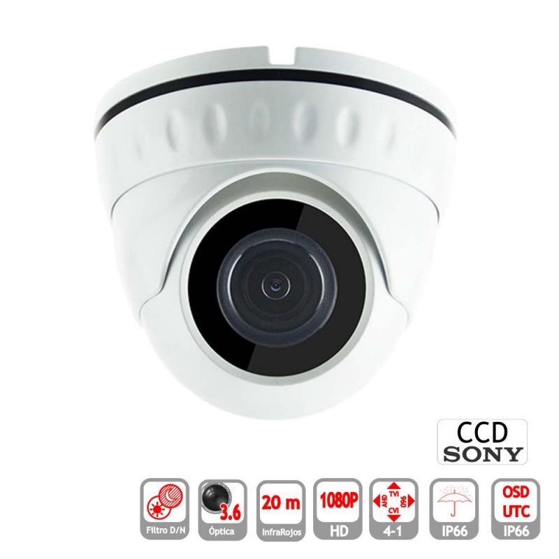 Minidomo 4 en 1 1080P exterior 3.6mm  infrarrojos OSD-UTC blanco