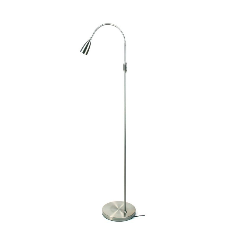 Lampara de pie LED COLLUM acero mate bombilla led GU10