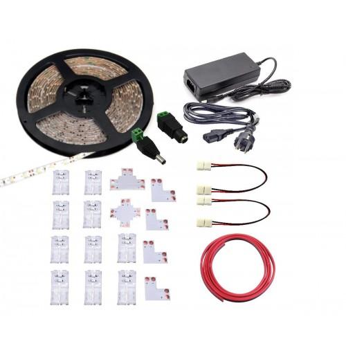 KIT Tira LED 5 mts 6000K con alimentador y conectores