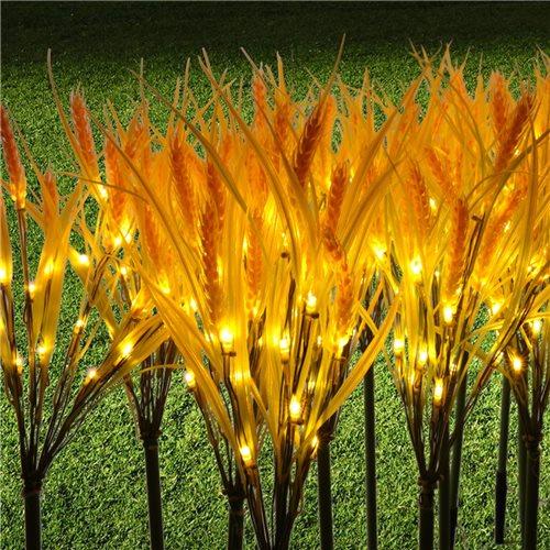 Set Lampara planta trigo decorativa 20 tallos amarilla 3000K