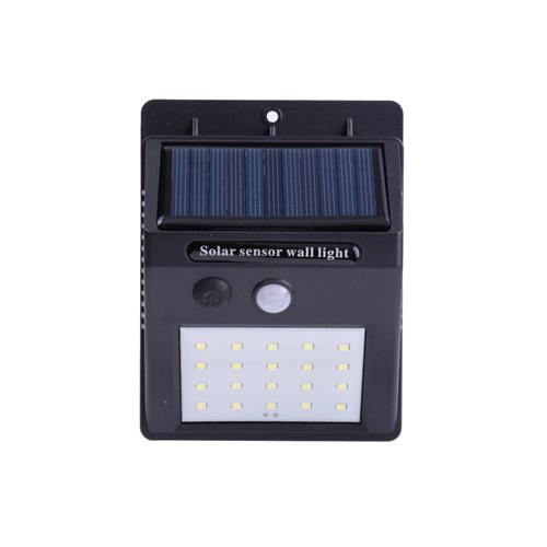 Aplique solar LED 20 leds sensor movimineto batería Li-ion