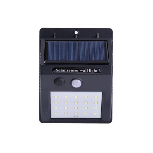 Aplique solar LED 20 leds sensor movimineto batería Li-ion