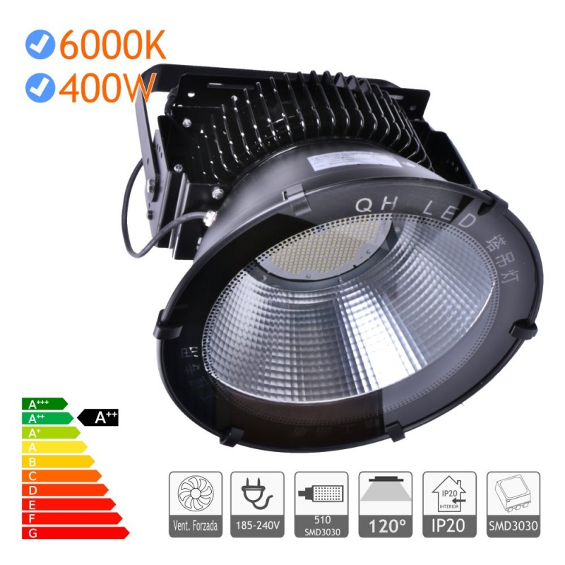 Campana LED 300W Industrial alta potencia SMD3030 negra
