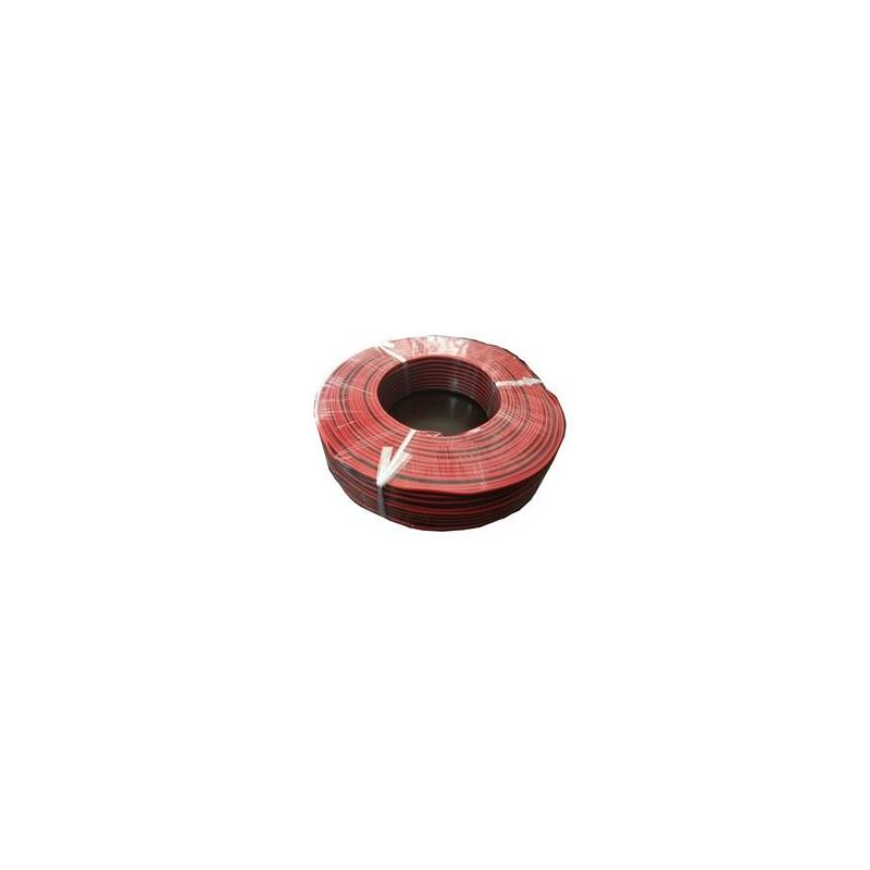 Cable paralelo rojo negro 1,5mm bobina 100 metros para led electronica