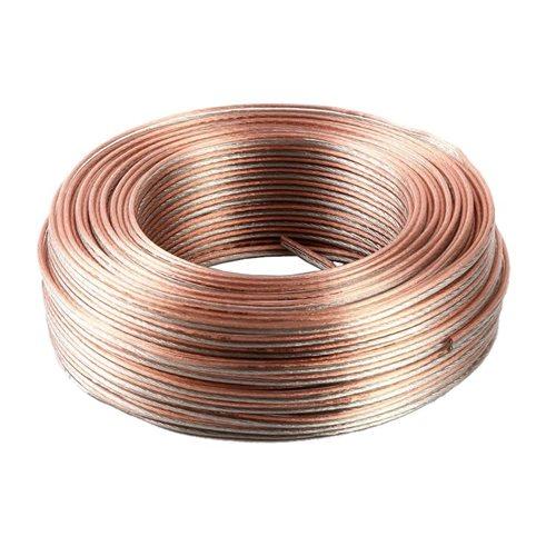Cable paralelo transparente 2x1.5mm tipo altavoz bobina 100 metros