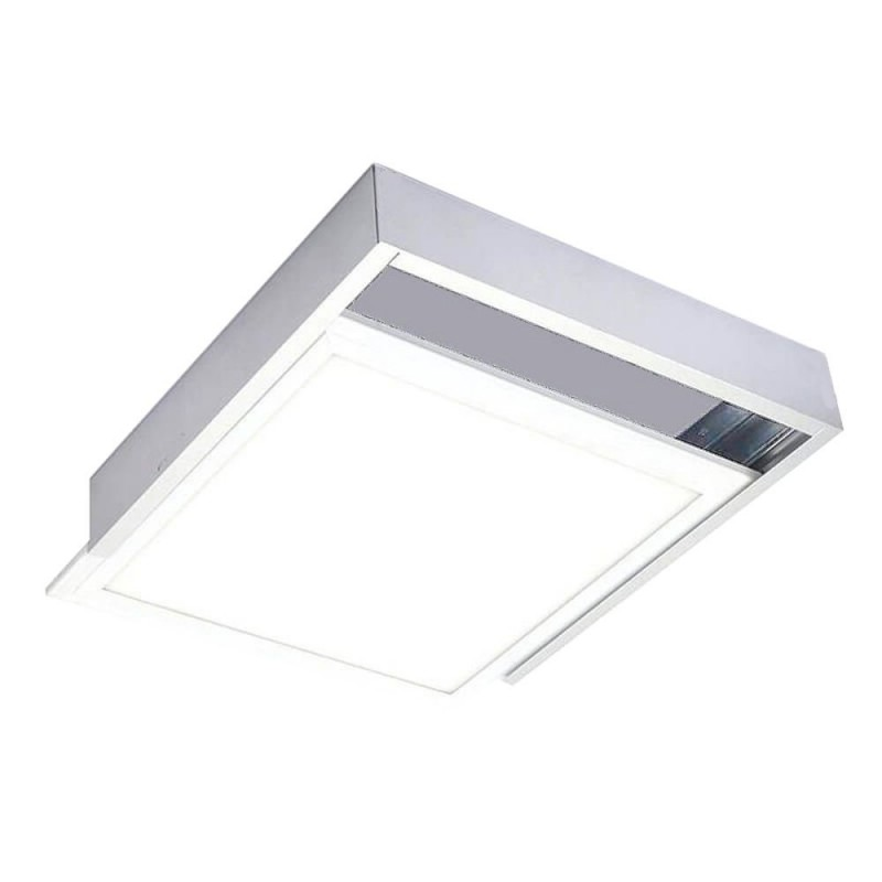 Marco panel led 60*60 superficie bkanco
