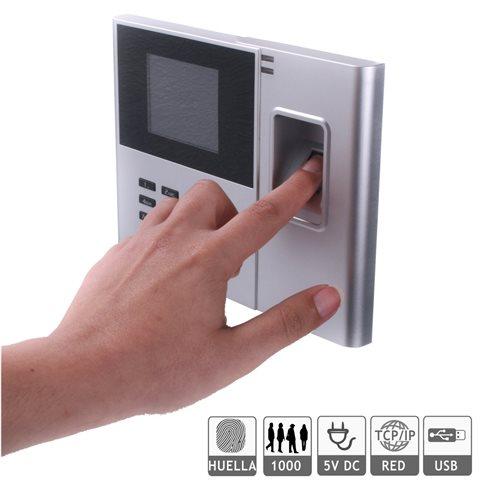 Reloj fichar huella dactilar red USB software incluido