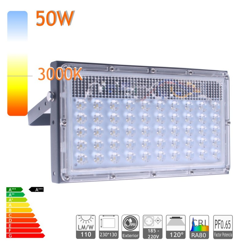 Proyector led 40W 3000K ensamblable ultra slim exterior