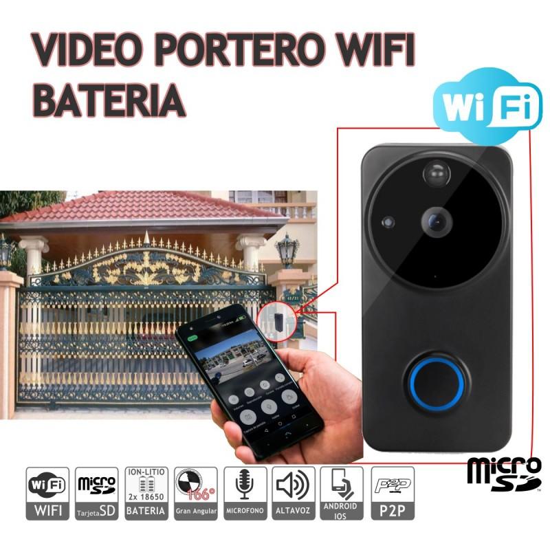 Videoportero batería wifi 1080P APP android IOS P2P