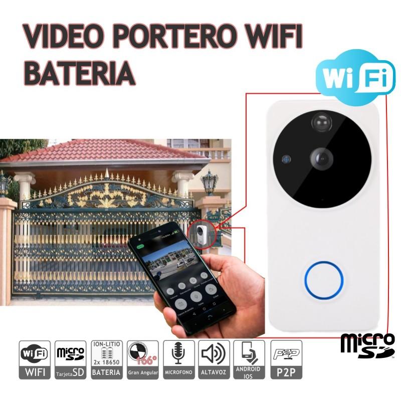 Videoportero con batería wifi 1080P APP android IOS P2P