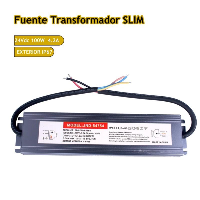 Fuente trasformador SLIM 24V 4.2A 100W