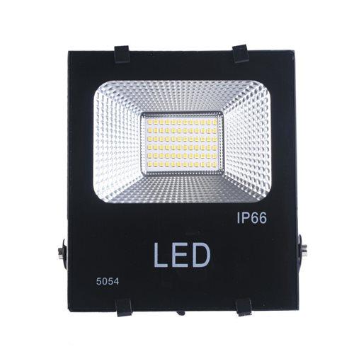 Proyector LED 30W luz blanca fría 6000K exterior negro