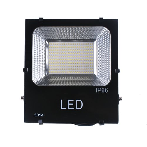 Proyector LED 100W luz blanca fría 6000K exterior negro