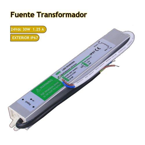 Trasformador 24VDC 1,25A 30W de exterior IP67