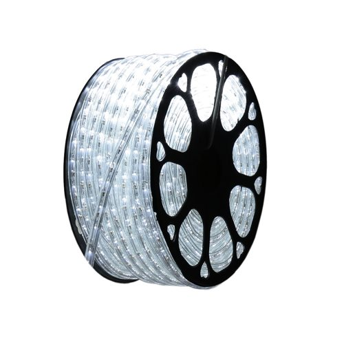 Hilo luminoso led vertical 6000K exterior corte 1m 220V tapon 50m