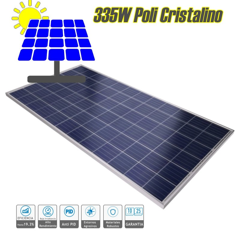 Panel solar fotovoltaico policristalino 330W 72 células