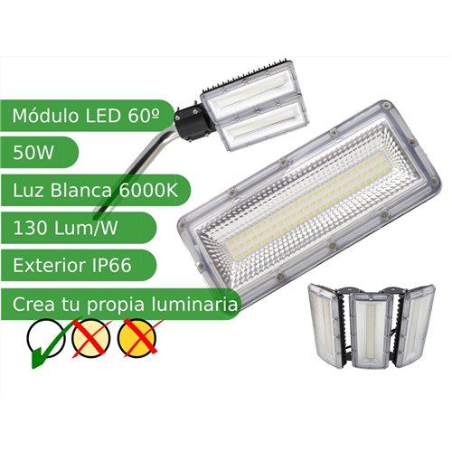 Modulo led 50W 60º SMD3030 Blanco 6000K exterior IP66 130 lm/W
