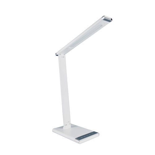 Lámpara mesa LED 12W regulable y orientable con cargador USB