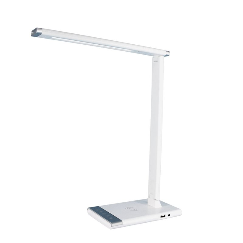 Lámpara mesa LED 12W regulable y orientable con carga inalámbrica