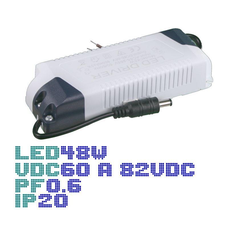 Driver panel led 48W 600mA 60-86V PF0.6 IP20
