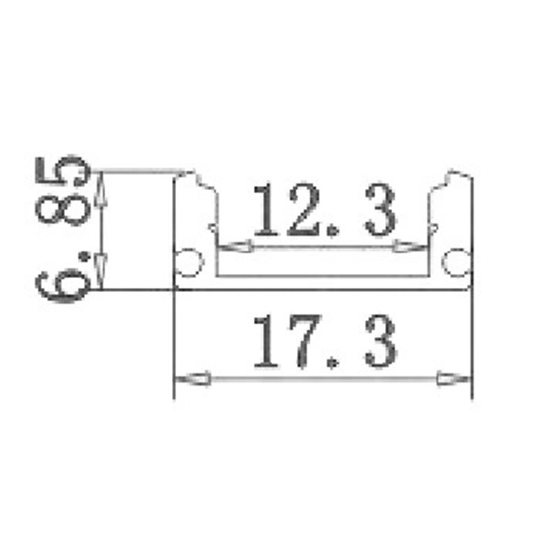 Perfil Aluminio Tira Led 2m Superficie Tapa Traslúcida 12,3x6,08mm