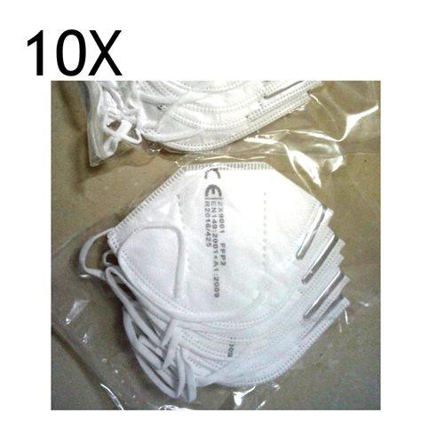 10x Mascarilla proteccion FFP2 homolagada