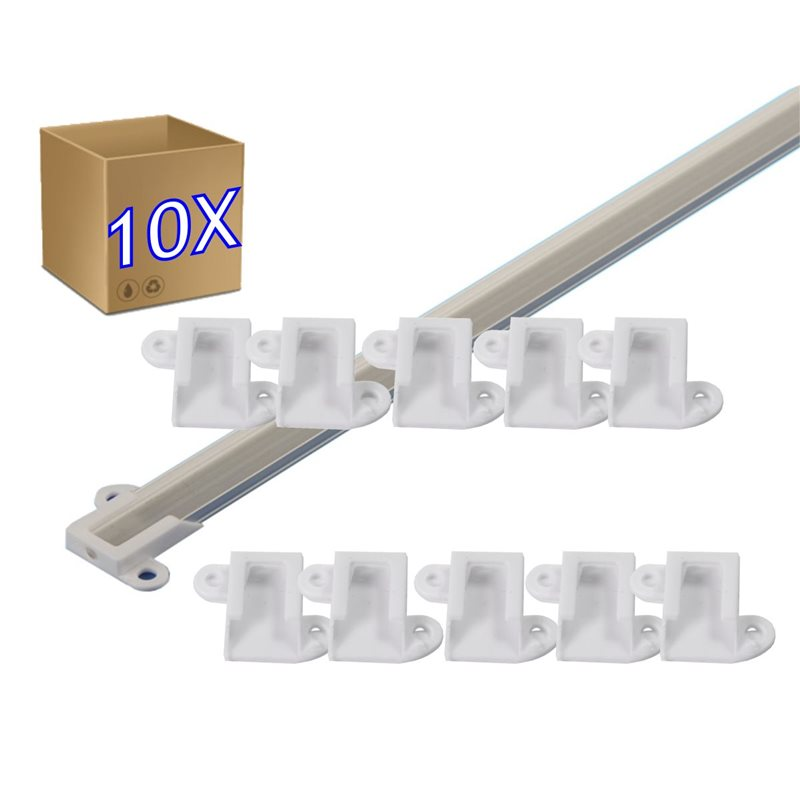 Clip perfil aluminio superficie 14 x 5 mm Pack 10 ud