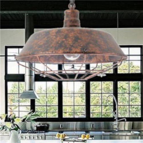 Lámpara estilo industrial acabado cobre viejo E27
