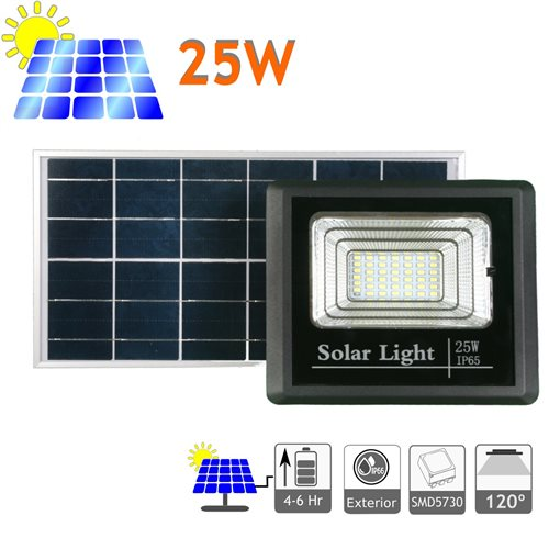 Proyector led solar 25W panel separado bateria litio