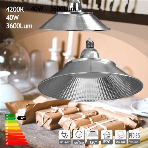 Bombilla led E27 campana 40W blanco natural 4200K