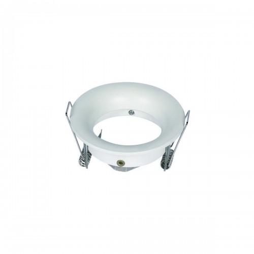 Aro circular fijo para GU10 color blanco