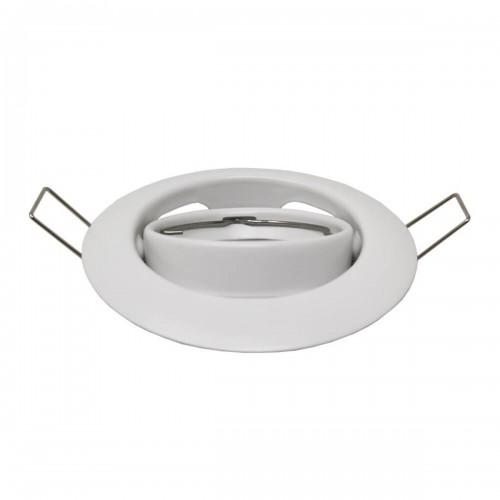 Aro circular orientable para GU10 blanco