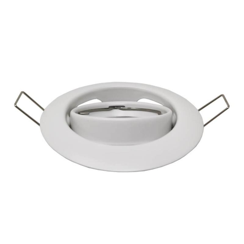 Aro circular orientable para GU10 color blanco