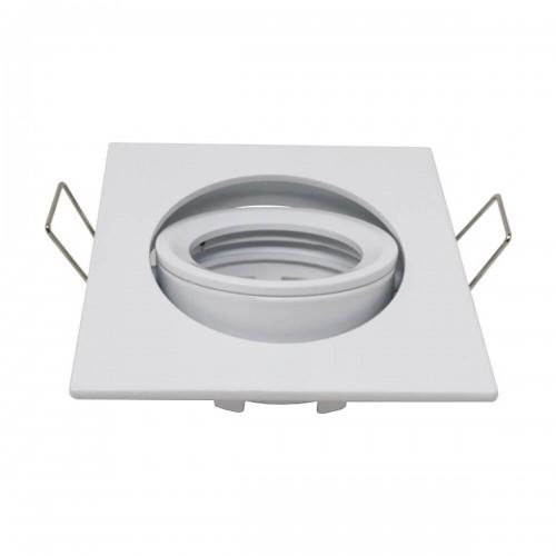 Aro cuadrado orientable para GU10 blanco