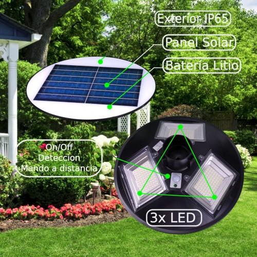 Farola LED Solar GREEN UFO 1500 Lúmenes 150W 6000K