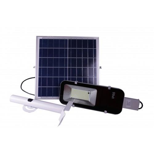 Farola solar MENORCA 50W panel orientable 6000K ion litio mando