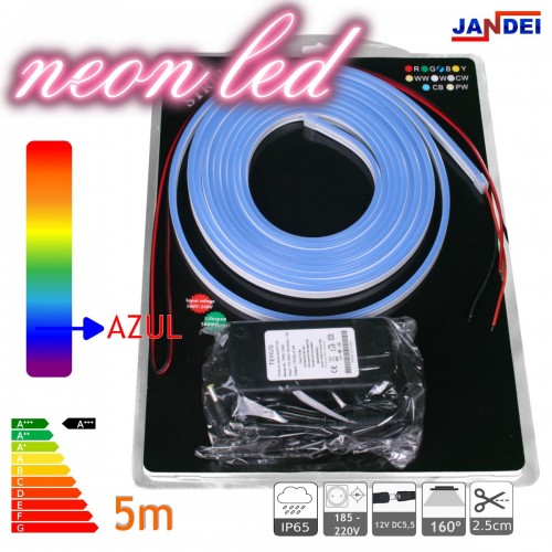 Kit Neon led flexible 12V ROJO con transformador